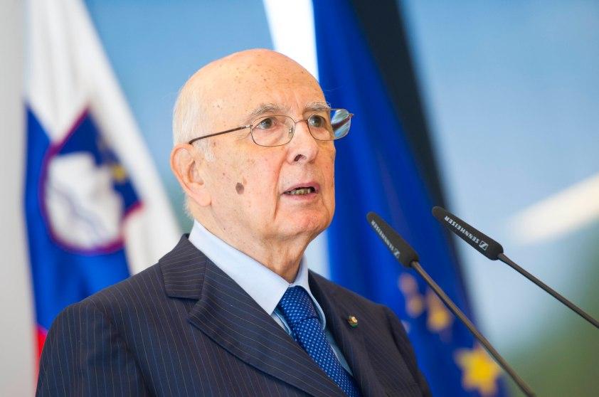 Italian President Giorgio Napolitano spe